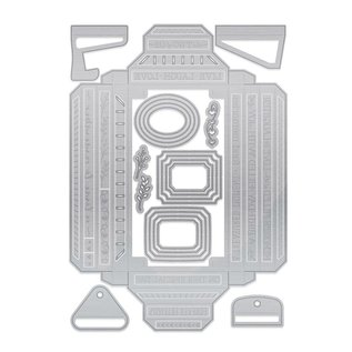 Tonic Studio´s Stamping templates: BASIC to create shadowboxes