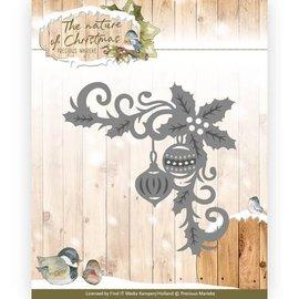 Precious Marieke Stamping template: corner with Christmas motifs