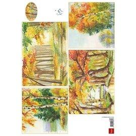 Bilder, 3D Bilder und ausgestanzte Teile usw... A4 Picture sheet: Autumn