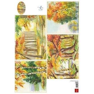 Bilder, 3D Bilder und ausgestanzte Teile usw... A4 Bilderbogen: Herbst