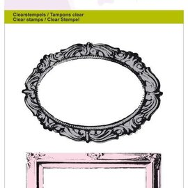 Crealies und CraftEmotions Motif stamp, transparent: picture frame