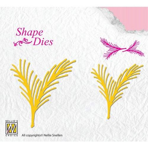 Nellie Snellen Stamping template: Fir tree branch