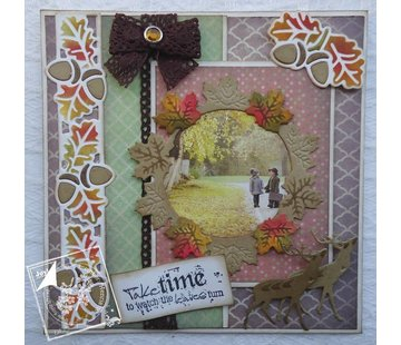 Joy!Crafts / Jeanine´s Art, Hobby Solutions Dies /  Stamping template: Leaf wreath