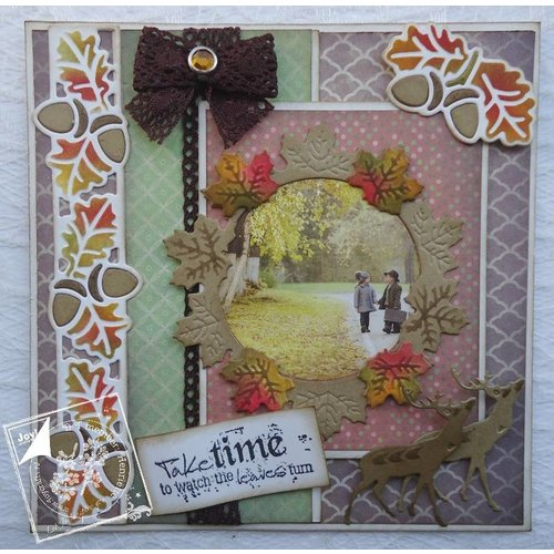 Joy!Crafts / Jeanine´s Art, Hobby Solutions Dies /  Ponsen sjabloon: laat krans