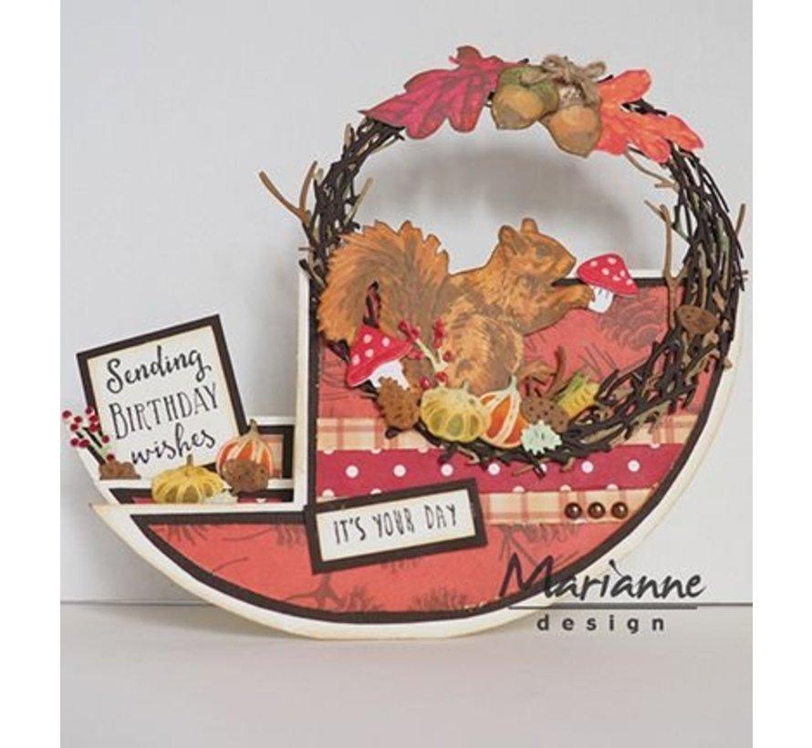 Cutting dies: Wreath