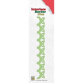 Nellie Snellen Stamping templates: Interlace Border Holly