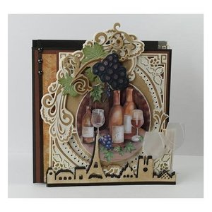 Marianne Design Stamping stencils: grapes with vines