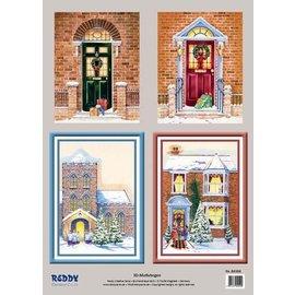 Bilder, 3D Bilder und ausgestanzte Teile usw... 3D Stanzbogenset Winter portals