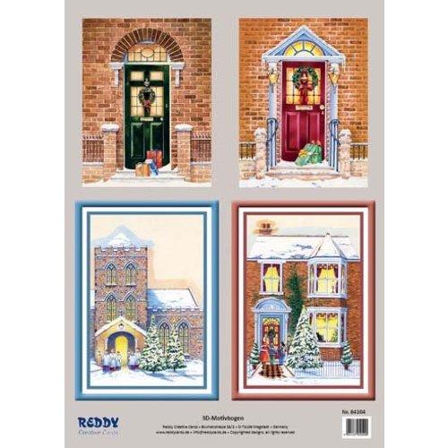 Bilder, 3D Bilder und ausgestanzte Teile usw... 3D-Stanzbogenset Winterliche Portale