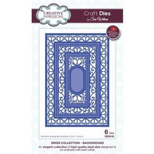 CREATIVE EXPRESSIONS und COUTURE CREATIONS matrici di taglio: 6 cornice decorativa