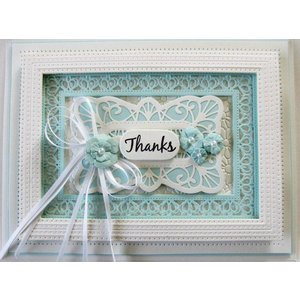 CREATIVE EXPRESSIONS und COUTURE CREATIONS Stamping templates: 6 decorative frames
