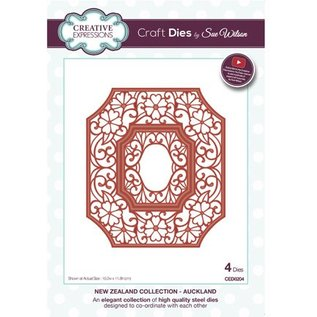 CREATIVE EXPRESSIONS und COUTURE CREATIONS Cutting & Embossing dies: 4 decoratief frame, rechthoekig