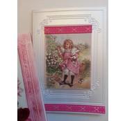 DEKOBAND / RIBBONS / RUBANS ... Dekoband SET, pink / røde toner, 5 x 2 meter! SIDSTE