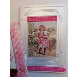 DEKOBAND / RIBBONS / RUBANS ... DEKoband SET, tonos rosa / rojo, 5 x 2 metros! ÚLTIMA