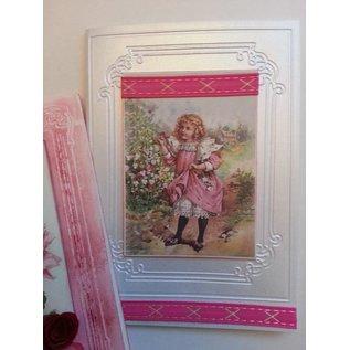 DEKOBAND / RIBBONS / RUBANS ... Dekoband SET, roze / rode tonen, 5 x 2 meter! LAATSTE