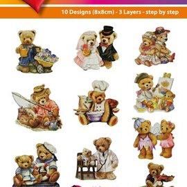 Bilder, 3D Bilder und ausgestanzte Teile usw... Fácil Toppers 3D: osos