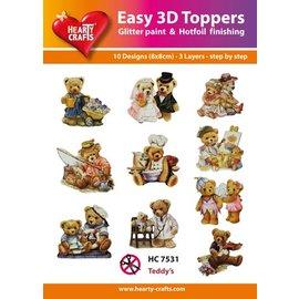 Bilder, 3D Bilder und ausgestanzte Teile usw... 3D Easy Toppers: Bärchen