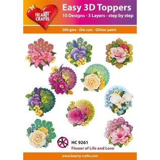 Bilder, 3D Bilder und ausgestanzte Teile usw... 3D Easy Toppers: Blumen + 3D Klebepads! (mit Produkt Video)