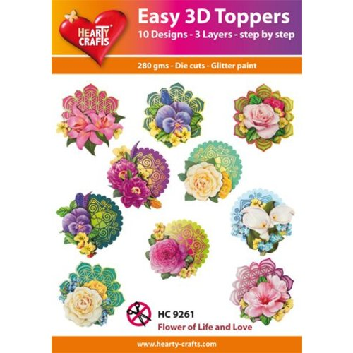 Bilder, 3D Bilder und ausgestanzte Teile usw... 3D Easy Toppers: Flowers + 3D Adhesive Pads! with product video!