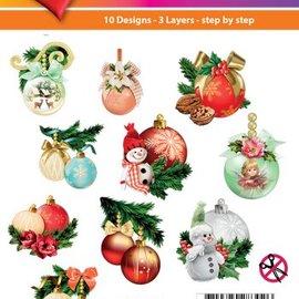 Bilder, 3D Bilder und ausgestanzte Teile usw... Progetto di Natale! 3D Easy Toppers: palle di Natale