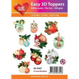 Bilder, 3D Bilder und ausgestanzte Teile usw... Julen projekt! 3D Easy Toppers: Julkugler