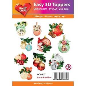 Bilder, 3D Bilder und ausgestanzte Teile usw... project Kerstmis! 3D Easy Toppers: kerstballen