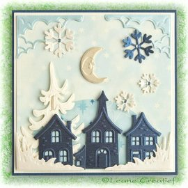 Leane Creatief - Lea'bilities und By Lene Cutting & Embossing die: pretty houses - ONLY 1 in stock!