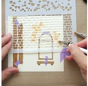 Leane Creatief - Lea'bilities und By Lene motif template / masque: mur de pierres et