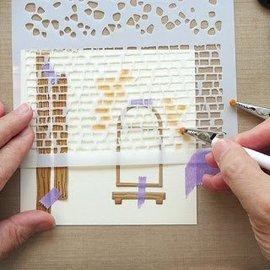 Leane Creatief - Lea'bilities und By Lene Modello / mascherina del modello: muro e pietre