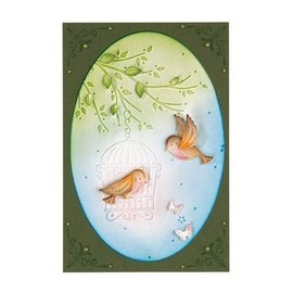 Leane Creatief - Lea'bilities und By Lene Pre-template: Birdcage