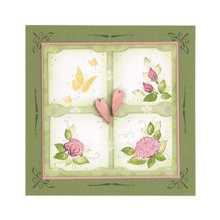 Leane Creatief - Lea'bilities und By Lene Clear, transparent stamp: Decorative corner
