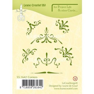 Leane Creatief - Lea'bilities und By Lene Duidelijke, transparante Stempel: Decoratieve hoek