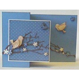 Leane Creatief - Lea'bilities und By Lene Stempling og prægning stencil, fugl