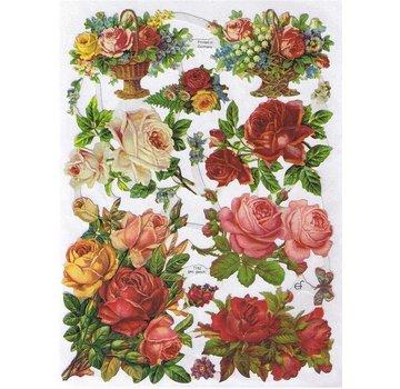 Bilder, 3D Bilder und ausgestanzte Teile usw... A5, les déchets: Roses