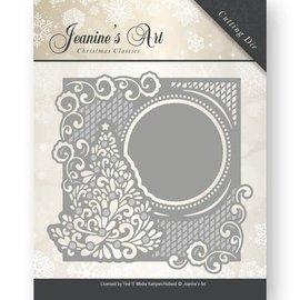 JEANINES ART (NEU) stampi taglio: cornice decorativa con l'albero di Natale