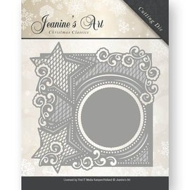 JEANINES ART (NEU) Stamping stencils: decorative frames with stars