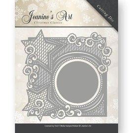 JEANINES ART  Skæring dør: dekorative ramme med stjerner
