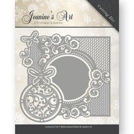 JEANINES ART  Stansmessen: Decoratief frame met Kerstballen