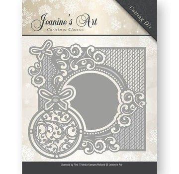 JEANINES ART (NEU) Stansmessen: Decoratief frame met Kerstballen