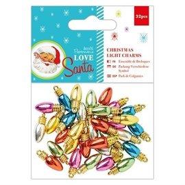 Embellishments / Verzierungen Christmas lys Charms, 32 stykker