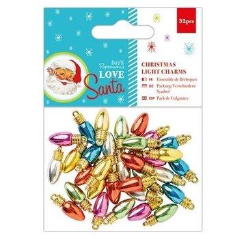 Embellishments / Verzierungen Christmas Light Charms, 32 pieces