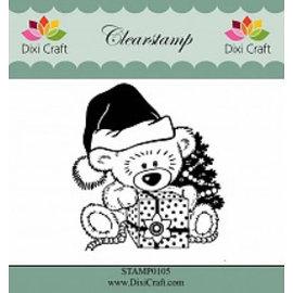 Stempel / Stamp: Transparent Claro, sello transparente: la Navidad del oso de peluche