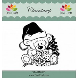 Stempel / Stamp: Transparent Duidelijke, transparante Stempel: De Teddybeer van Kerstmis