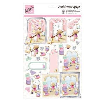 Bilder, 3D Bilder und ausgestanzte Teile usw... Stanzbogen A4 mit Metallic Effect: Shopping for Cake