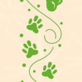 Leane Creatief - Lea'bilities und By Lene Embossing folders, 22 x 122mm, paws