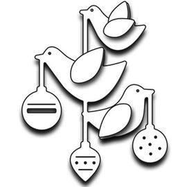 Penny Black stampi di taglio: ornamenti con gli uccelli