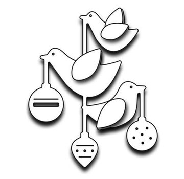 Penny Black Stamping stencils: ornaments with birds