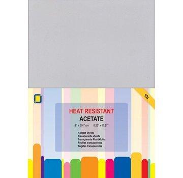 BASTELZUBEHÖR, WERKZEUG UND AUFBEWAHRUNG 10 Transparent sheets Heat resistant A4