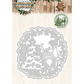 Studio Light Stamping templates: Wreath with reindeer and Christmas tree