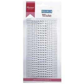 Embellishments / Verzierungen perles adhésives de décoration en blanc